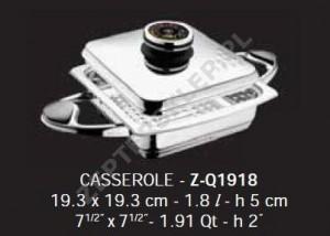 Naczynie QUADRA Griller 1,8l 19x19 cm Z-Line Zepter