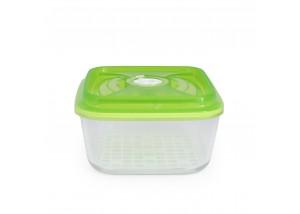 Pojemnik szklany VacSy Green Zepter 3,6 l 22 x 22 x 10,5 cm